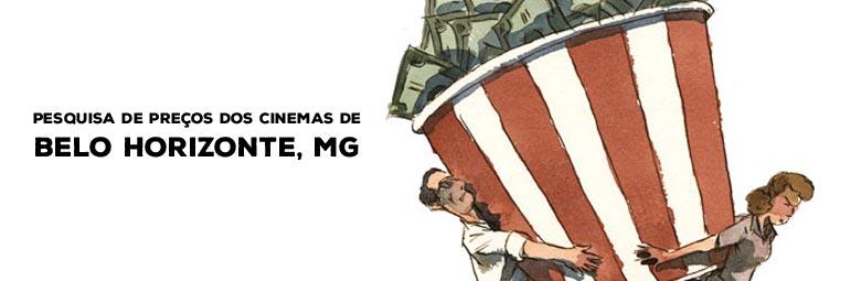 Preço da pipoca nos cinemas de Belo Horizonte