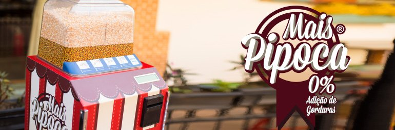 Tudo sobre a Mais Pipoca a máquina automática de pipoca